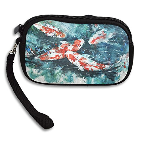 Portable Colorful Painting Purse Deluxe Fish Bag Koi Small Printing Receiving pvvwq0HrWx