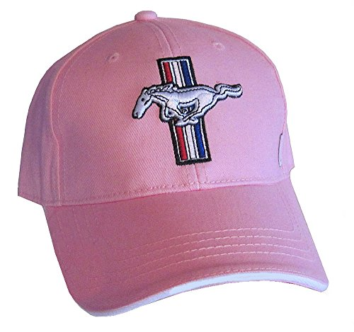 Gregs Automotive Ford Mustang Hat - GT Ladies Pink Twill Embroidered Adjustable Baseball Cap - Bundle with Driving Style Decal