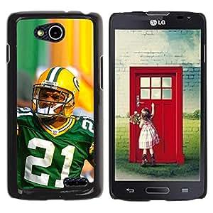CASECO - LG OPTIMUS L90 - 21 NFL Star - Delgado Negro Plástico caso cubierta Shell Armor Funda Case Cover - 21 Jugador de la NFL