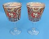 San Francisco 49ers, Goblet wine, Beer glasses. Set of 2