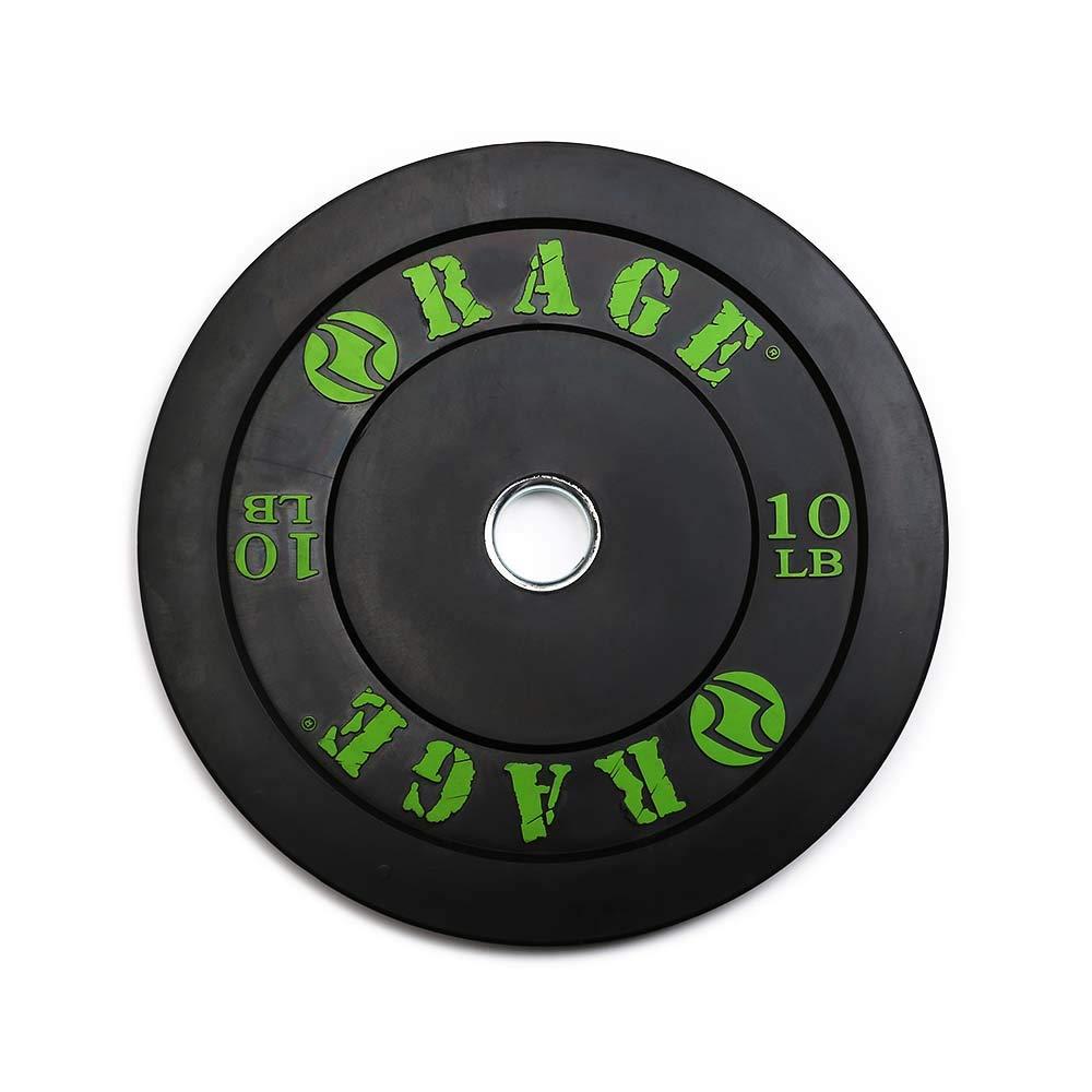 Rage Fitness Proオリンピックバンパープレートindividually-販売 – 10lb 15lb、25lb、35ポンド、45lb、スチール、挿入、クロスフィット、強度トレーニング、ベンチ、押しSquats、パワーリフティング 25ポンド  B00R93GTG0