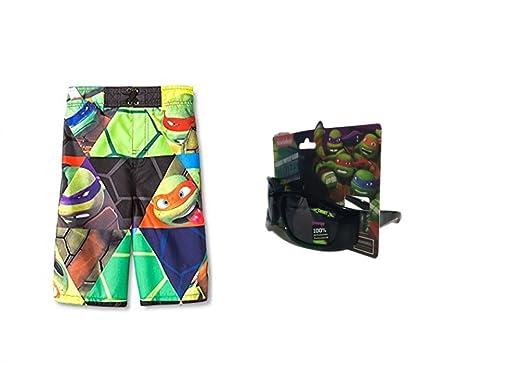 c15f1e0fa5140 Amazon.com: Teenage Mutant Ninja Turtles Swim Trunks Plus Sunglasses ...