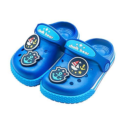 Toddler Little Kids Clogs Slippers Sandals, Non-Slip Girls Boys Slide Lightweight Garden Slip-on Shoes Beach Pool Shower Slippers (9.5-10 M US Toddler, Navy -