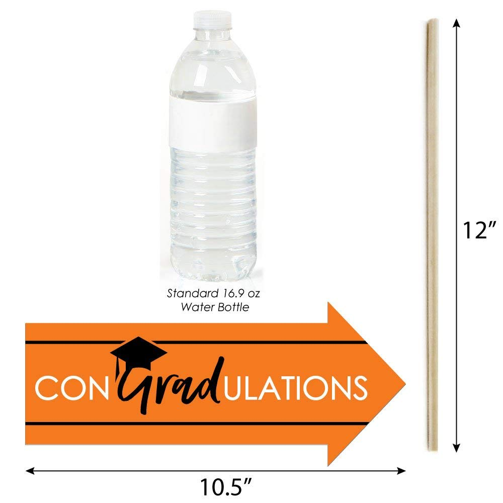 Best is Yet to Come 10 Piece Funny Orange Grad Orange Graduation Party Photo Booth Props Kit