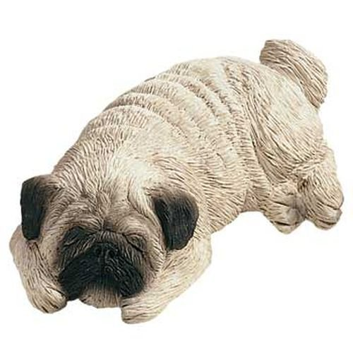 Sandicast Pug Snoozer Dog Figurine