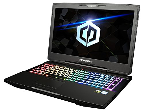 "CYBERPOWERPC Tracer II T15300 15.6"" Gaming Notebook (Intel i7-7700HQ 2.8GHz, 8GB DDR4, NVIDIA GeForce GTX 1050 Ti 4GB, 240GB SSD, WiFi+BT & Win10 Home) Black"