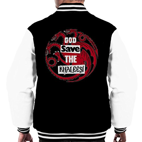 Varsity Save Men's God Game Jacket Of white Thrones Black nBXHnp1