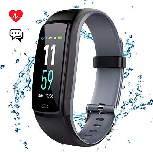 Mgaolo Fitness Tracker Smart Watch Activity Tracker Sports Band Bracelet Waterproof Bluetooth Wristband with Heart Rate Monitor Pedometer Sleep Monitor Calorie Step Counter Blood Pressure (Gray)
