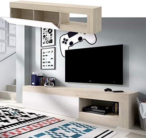 HABITMOBEL Mueble de Comedor Moderno, Color Blanco Brillo ...
