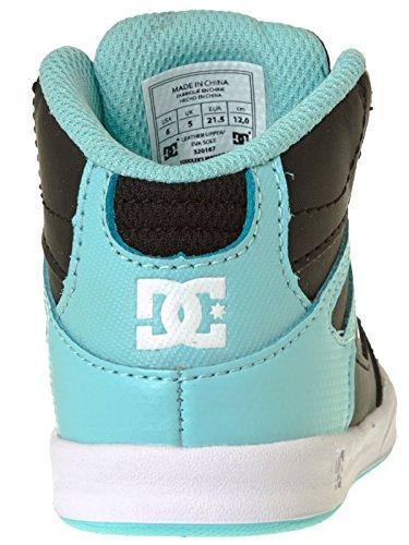 Zapatos primera infancia DC Rebound Negro-Aqua