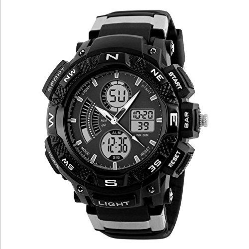 Men's Digital Analog Sports Watch, Alarm Stopwatch, 50M Water Resistance, Waterproof Wrist Watch – - 24 Wrist Hr Watch