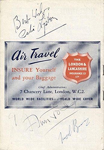 Nigel Bruce - Program Signed co-signed by: Celia Lipton, Ann ...