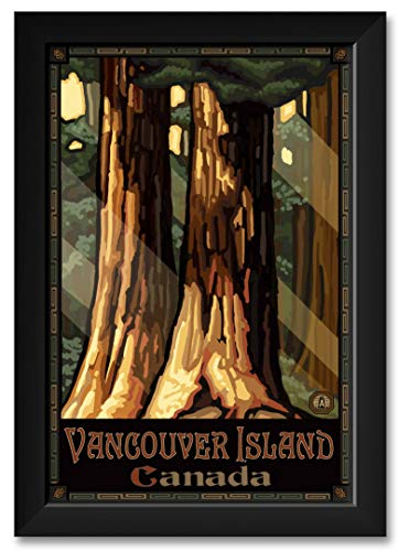 (Giant TreesVancouver British Columbia Canada Framed Art Print by Paul A. Lanquist. Print Size: 12