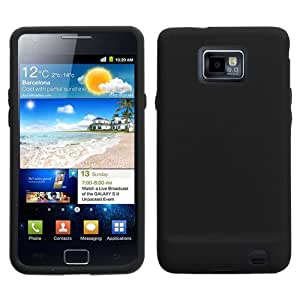 Solid Skin Cover (Black) for Samsung© i9100 (Galaxy S 2)