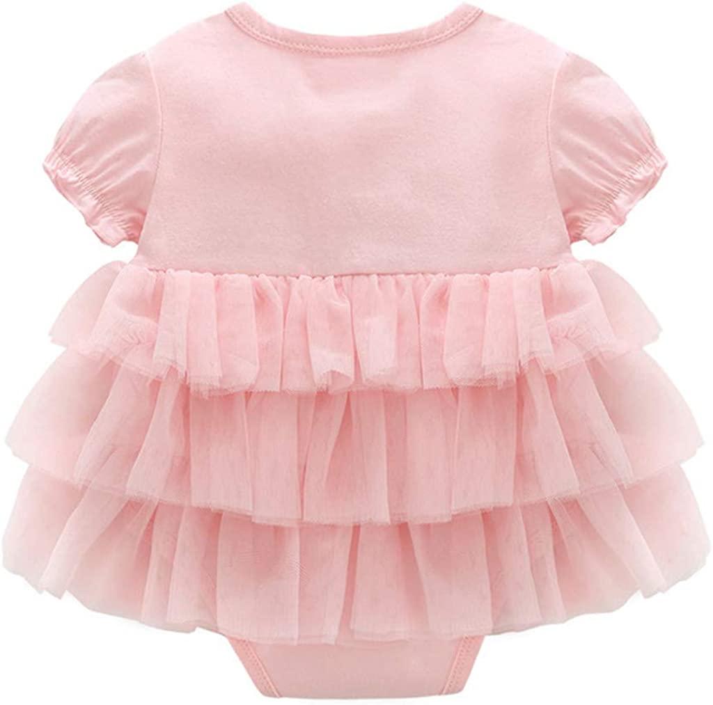 Baby Girls Striped Tutu Romper Skirt Infant One-Piece Bodysuit Princess Outfits Costume 0-36 Months