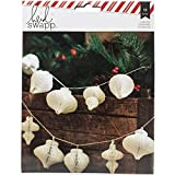American Crafts Heidi Swapp Oh What Fun Garland Honeycomb Shapes Ornaments (12 Pack)