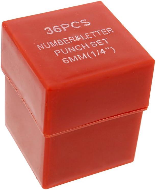 ABN Metal 1//4in /& 1//8in Stamping 72-Piece Tool Kit Alphabet Symbols Steel Embossing /& Engraving Stamp Set Numbers