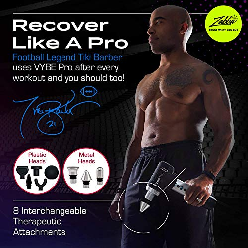 VYBE Percussion Massage Gun – Pro Model – Massager for Deep Tissue Muscle – for Pain Relief – 9 Speeds, 8 Attachments…