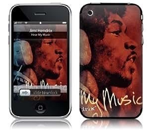MusicSkins, MS-JIMI50001, Jimi Hendrix? - Hear My Music, iPhone 2G/3G/3GS, Skin