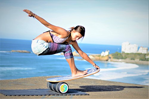 INDO BOARD Rocker 33'' X 16'' with 6.5'' Roller - High Performance Balance Board for Advanced Tricks - Aqua Blue by INDO BOARD (Image #3)