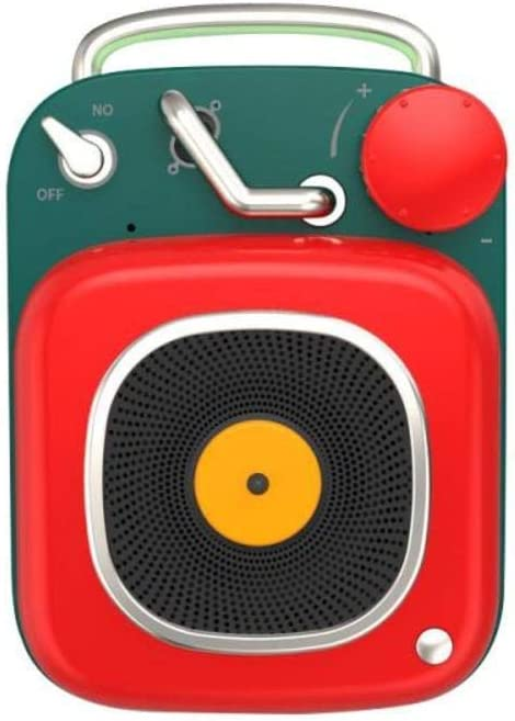 WOHAO Medios Dispositivo de Streaming Sistema de Sonido estéreo Altavoz Bluetooth Creativa Atómica Retro Mini Wireless Music Surround Speaker Impermeable al Aire Libre (Color : Red)