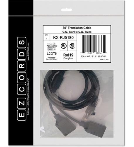 EZCORDS KX-RJ5180 LCOT6 NS700 Translation Cable