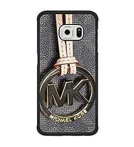 Samsung Galaxy S6 Edge Funda Case, Michael Kors (MK) Snap on Resistente Al RayadoProtective Piel Cover (Not Fit para S6)