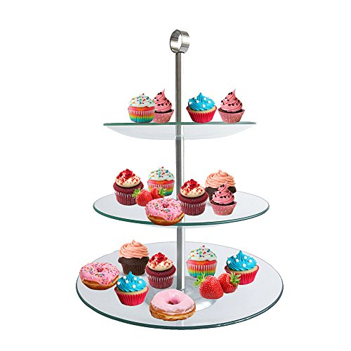 3 Tier Glass Stand Chef Buddy 82 47532 3 Tier Square
