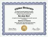 Chicken Degree: Custom Gag Diploma Doctorate Certificate (Funny Customized Joke Gift - Novelty Item)