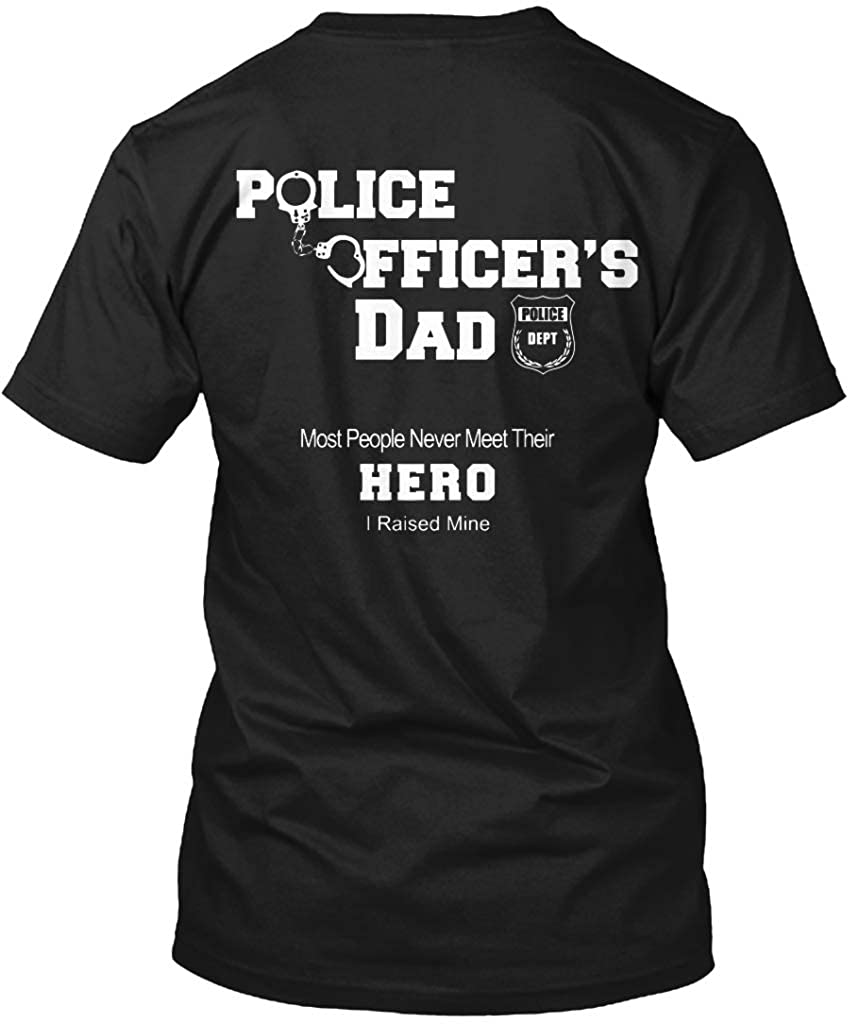 Police Officers Dad Police Dept Most. T - Black Tshirt - Tagless Tee