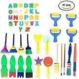 47 Pieces Sponge Painting Brushes Kit PERTTY Kids Art & Craft Kids Painting Kits