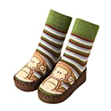 Toddler Baby Boy Girl Cartoon Moccasins Non Slip Indoor Slippers Socks Anti-Slip 0-39 Months