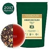 Hibiscus Rush Herbal Tea Tisane (100 Cups), 100% Natural Hibiscus Tea - Blend of Hibsicus Flowers & Delicious Fruits, Herbal Tea Loose Leaf for Iced Tea, Kombucha, 3.53oz (SET OF 2)