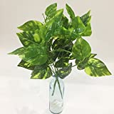 Artificial Plants Artfen 2pcs Artificial Shrubs Leaves Faux Shrubs Simulation Greenery Bushes Artificial Flower Indoor Outside Home Garden Office Verandah Wedding Decor 15 inch