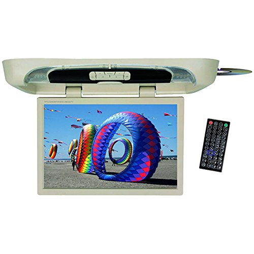 Tview T20DVFD-BK 20-Inch Flip Down Monitor with Built in DVD Player (Black) (Car Tv Dvd Player Roof Mount)