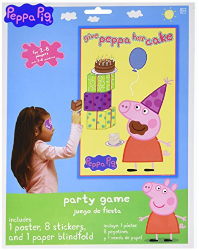 Amscan Peppa Pig Birthday Party Game Activity Supplies (18 Piece), Multicolor, 24 by Amscan