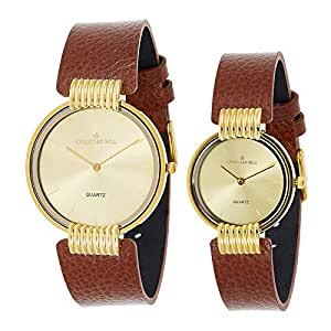 Christian Bell Casual Watch For Unisex Analog Leather - 5392BRW