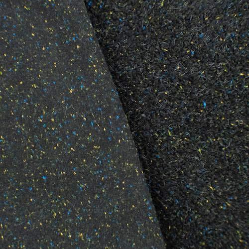 Black Single-Sided Berber Fleece, Fabric by The Yard