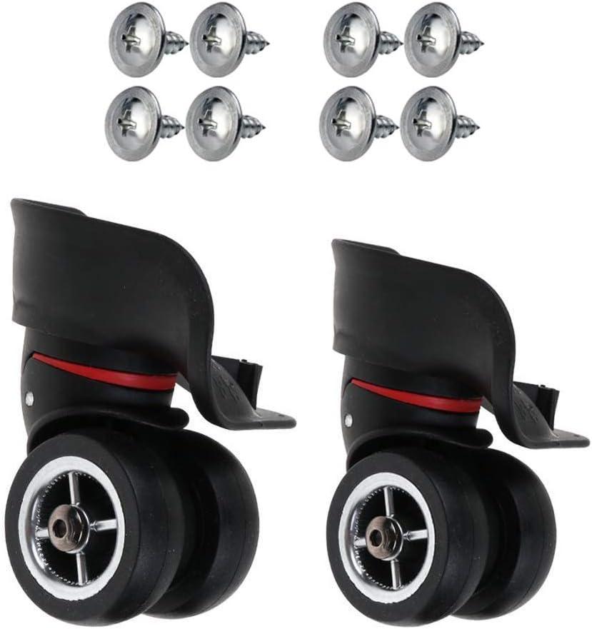 itdegno Par Repuesto Ruedas giratorias Reemplazo para Equipaje Maleta Trolley OD 49mm