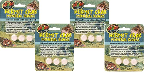Zoo Med Laboratories Hermit Crab ((4 Pack) Zoo Med Laboratories Zoo Hermit Crab Mineral Blocks)