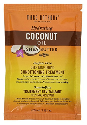 Marc Anthony Coconut Oil 100% & Shea Treatment 1.69 Ounce (12 Pieces) (50ml) (Marc Anthony Hydrating Coconut Oil And Shea Butter)