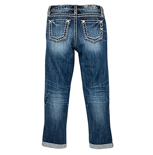 Price comparison product image Miss Me Girls' Revolt Boyfriend Ankle Jeans Indigo 10