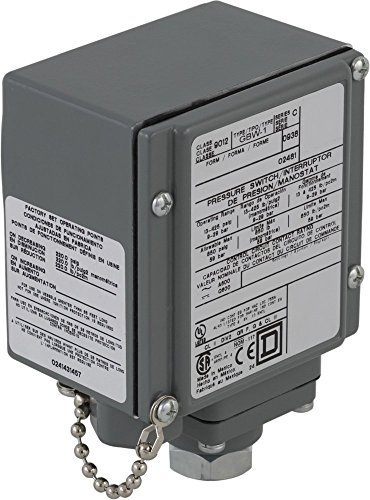 Square D 9012GBW1 Single-Stage Diaphragm-Actuated Pressure Switch, 13-425 psi Press. Range, Nema 4, 4X, and 13 Enc., 1/4