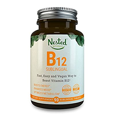 Vitamin B12 Sublingual   2500mcg Methylcobalamin   90 Fast Dissolve Vegan Tablets   Boost Natural Energy + Supplement B 12 Deficiency in Men & Women   2500 mcg Methyl Vit B Tabs   Dissolvable Vitamins