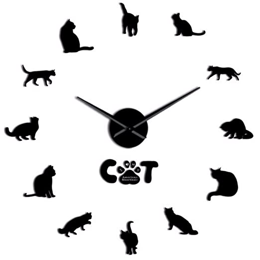 Cyxwjzwj American Shorthair Cat Modern DIY Creativo Reloj De Pared ...