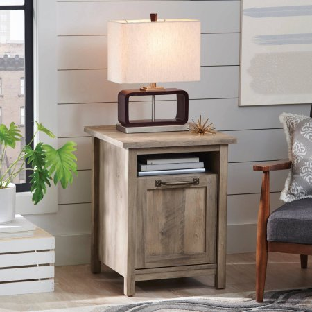 Better Homes and Gardens Modern Farmhouse Side Table, Rustic Gray Finish By Dreamsales