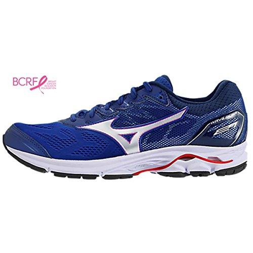 Mizuno Men's Wave Rider 21 Running Shoe Delta Blue-Silver sale with paypal pay with visa cheap online lowest price online shop for cheap price under $60 xrAMlOpHk