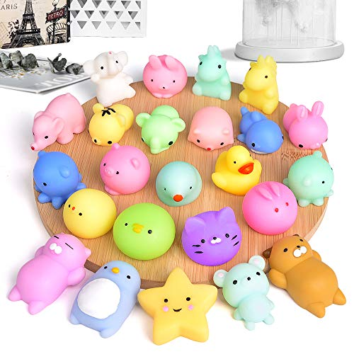 FLY2SKY 45Pcs Mochi Squishy Toys Mini Squishies Kawaii Animal Squishies Party Favors for Kids Cat Panda Unicorn Squishy Novelty Stress Relief Toys Birthday Gifts Goody Bags Class Prizes Pinata Fillers by FLY2SKY (Image #1)