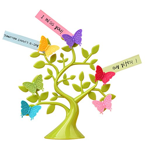 Magnetic Photo Frame Note Tree With 6 Colorful Ladybug/Butterfly Decorations ()