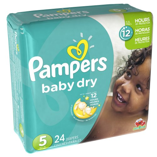 Pampers Baby Dry Diapers Size 5 Jumbo Pack, 24 ct